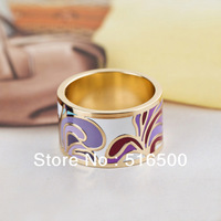 Free Shipping Newest Rose Gold Plated Colorful Copper Enamel Jewelry Ring,1pcs/pack