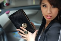Sale 2013 New Designer Genuine Leather bags fashion women's long designer wallet purses for women -wal0016