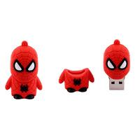 Free shipping Wholesale High quality full capacity spider-man shape 2GB 4GB 8GB 16GB 32GB 2.0 Memory USB Flash Drive QB2005