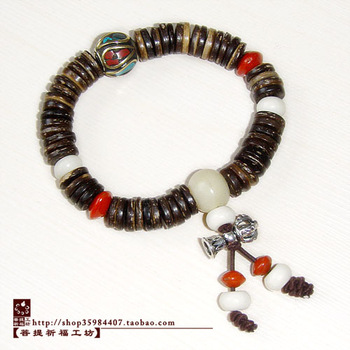 Tibetan analysed coconut shell beads bracelet beads