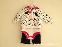 MINI BEAN baby clothing set three sets of trade boutique suit Romper Suit 5325 models