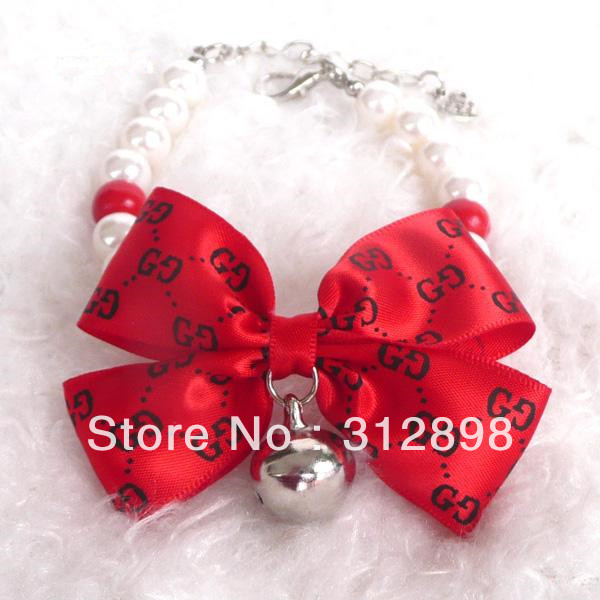 Re Beaded Pet Dog Cat Free Shipping Necklace Jewelry 0501B Accessory(China (Mainland))