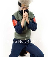 Japan Naruto Flag wood kakashi clothes Anime Cosplay Costume /Adult //Halloween