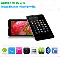 7 inch MTK 6577 dual core Tablet 3G 1.0Ghz android 4.1 phone call bluetooth Wifi Dual Camera Washion M7