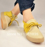 Free shipping/South Korean fashion color matching women's low canvas shoes
