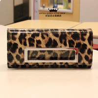 Queen 2013 women's handbag classic punk sexy leopard print japanned leather day clutch shoulder bag hot-selling