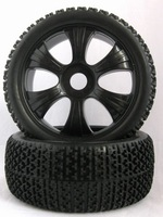 1/8 Buggy tires 6 spoke wheel and T-Beam tire un-glued
