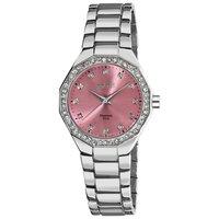 Free Shipping August Steiner Women's AS8044PK Diamond Swiss Quartz Bracelet Watch