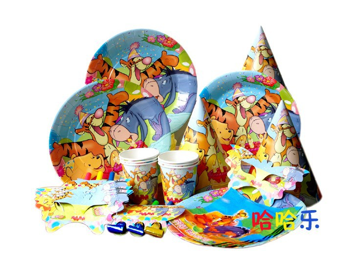 Winnie Theme Birthday Party Sets Baby Shower Decoration Party supplies Kids favor party decoration(China (Mainland))