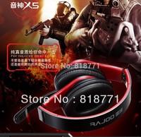 180 degree rotatable Game designed headset headphone Cool folding  bass music gaming earphones headphone free shipping