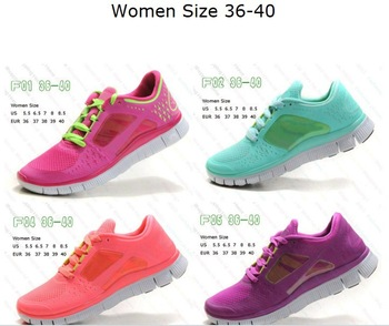 Free shipping! hotsale 2013 NEW barefoot running shoes free 5.0 free run 3 sports shoes colors shoes eur 36-45