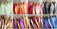 20 Ribbon Wands Wedding Reception Party Favor MANY COLORS Bride Groom TWIRLING STREAME  Ribbon Stickers