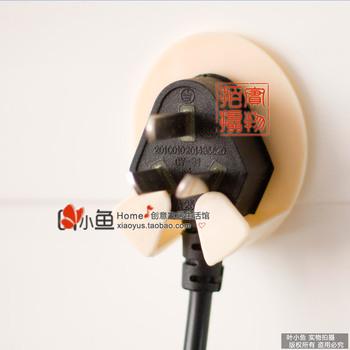 Free shipping Derlook 2 power cord plug socket storage small paste type mount  20 pcs/set