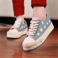 free shipping 2013 new arrive Spring canvas shoes platform shoes platform shoes ss 819 - 016 65  flat sneakers Drop shipping