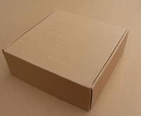 Free shipping 20*20*10CM wholesale 12pcs Kraft Corrugated Board Paper Box T shirt/clothes Packaging Box
