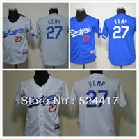 Free Shipping Youth baseball Jerseys LOS ANGEIES DODGERS  #27 Matt Kemp Grey Cool Base Jersey, Cheap Kids baseball Jersey