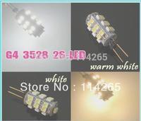 5pcs G4 26 SMD 3528 Warm White RV Marine Boat 26 LED Car Home Light Bulb Lamps  V10