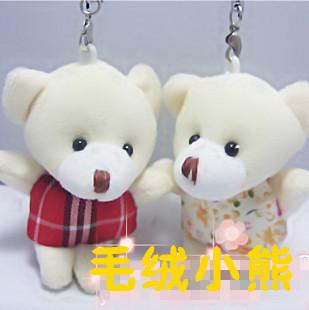 Cartoon bear plush phone pendant novelty yiwu commodity baihuo toy