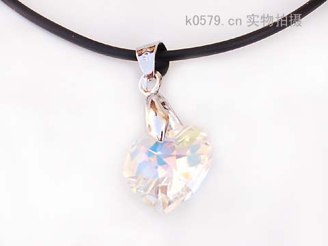 1pcs 33311509 czech diamond heart crystal pendant necklace all-match fashion elegant necklace Free shipping(China (Mainland))