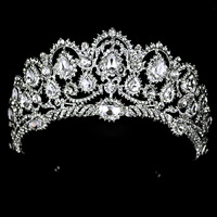 Free Shipping 2014 New Fashion Queen Big Large rhinestone Wedding Prom Party Pageant Crown Tiara For Sale gift