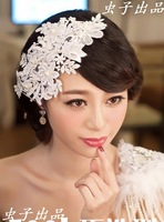 Free Shipping The bride hair accessory fashion crystal lace hair accessory hair accessory accessories