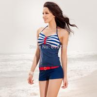 free shipping2013 new arrival,Navy style,blue stripe swimsuit,Sexy Women's Swimsuit, Swimwear Beachwear tankinis Set