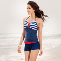 free shipping2013 new arrival,Navy style,blue stripe swimsuit,Sexy Women's Swimsuit, Swimwear Beachwear tankinis Set