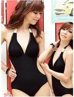 2013 New arrival! Korea ladies' sexy monokini one piece swim suits,black one piece bathing suits for women size  M,L,XL