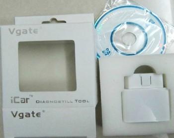 QIQI.AUTO   Free Shipping    ELM327 Vgate iCar Bluetooth OBD2 Scantool v1.5 (1.4 B)