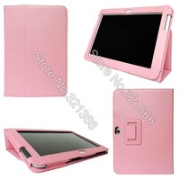 New Leather Case Cover with Stylus Holder for Samsung Galaxy Note 10.1 N8000 Leather Case 100pcs in stock  free DHL