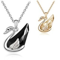 Hot sales  Fashion jewelry, 2013 swan swan lake Austrian crystal necklace 4432-66