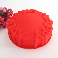 silicone Happy Birthday Cake Mold large bread mould[210110]