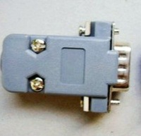 DB9 9 Pin FeMale connect with Plastic Hood Cover,RS232 Connector Free shipping 200pcs/lot
