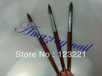 Free Shipping !!1pc/lot wholesale #16 professional nail art tool brushes kolinsky acrylic nail brush for nail painting