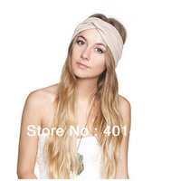 Fashion Spandex Kintted Women Headband Hair band Turband BOHO GYPSY Hair accessories 10pcs/lot  Free Shipping Many Countries