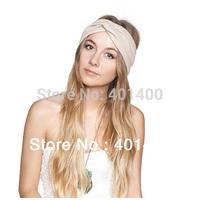 Fashion Spandex Kintted Women Headband Hair band Turband BOHO GYPSY Hair accessories 10pcs/lot  Free Shipping Many Countries