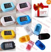 Free soft rubber case (CE FDA) OLED  Portable Fingertip Pulse Oximeter-CMS50D