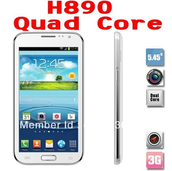 Unlocked 5.5 Inch Android4.2 OS H890 N7100 MTK6589 Quad Core 3G GPS WIFI Mobiles phones Cheap Free Shipping