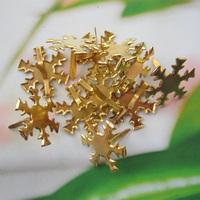 100pcs 16mm gold color snow shape metal brad /DIY scrapbook brad/album brads/(Ba05)--free shipping