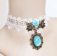 Clearance Party Wedding  LOVE SEA Wide Lace Chokers Necklace Fake collar Gothic Style Personality Alternative jewelry