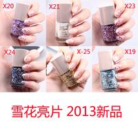 3 bottle new arrival bgirl paillette nail polish oil paillette nail polish oil