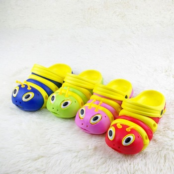 Free shipping Summer cartoon caterpillar child slippers beach slippers slip-resistant