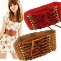 Accounting velvet vivi tassel vintage rivet tassel gauze cummerbund women's belt