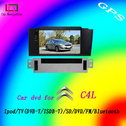 Free shipping Double Din Car DVD Player for CITROEN C4L 2012 Model with bluetooth handfree GPS FM/AM,ipod connection functions(China (Mainland))