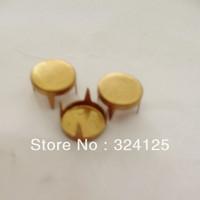 Factory direct 500pcs brass DIY 9MM special flat circular nail and Punk Bag Belt Leathercraft Rivet Free shipping