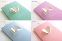 Fancy wings and heart greeting cards 1card+1envelope 0.8USD/set  8*16cm 0.015kg