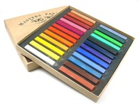 2013 Montgomery 24 colored chalk pastel stick color vermicelli 24 color Marley color chalk powder brush hair chalk