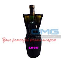 Free Shipping! Custom Imprint Neoprene Wine Champagne Bottle Tote, Wine Bottle Cooler Bag,Wine Holder, Bottle Insulator