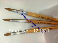 Free Shipping !!hotsale 10pcs/lot wholesale #18 kolinsky acrylic nail brush for nail painting