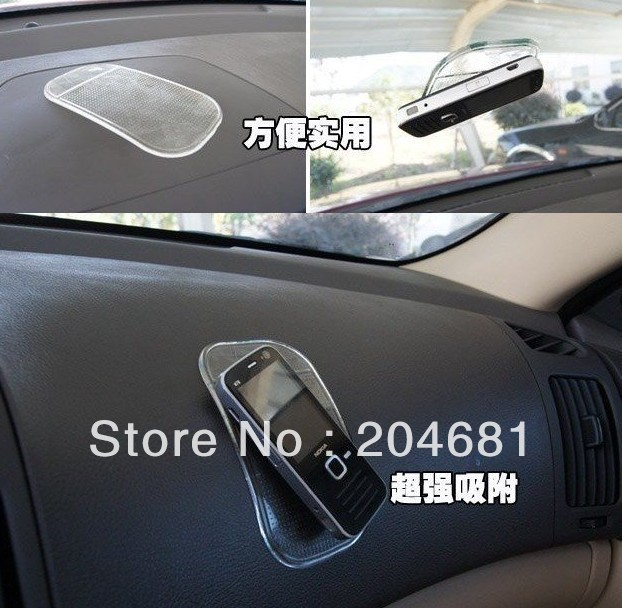 Free shipping 10pcs/lot Wholesale Magic Non slip sticky pad anti slip mat Car Anti slip Pad Washable Durable Use(China (Mainland))